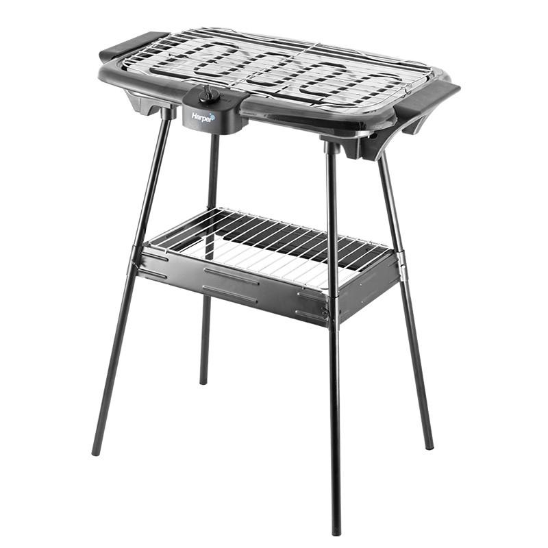 barbecue lectrique sur pieds harper 2000w modele bqs1000. Black Bedroom Furniture Sets. Home Design Ideas